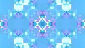 Baixo fundo abstrato geométrico poli azul como um vitral movente ou caleidoscópio em 4k Animação do laço 3d, sem emenda vídeos de arquivo