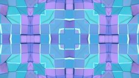 Baixo fundo abstrato geométrico poli como um vitral ou um efeito movente do caleidoscópio em 4k Animação do laço 3d filme