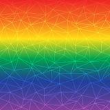 Baixo fundo poli abstrato da cor do arco-íris Fotografia de Stock Royalty Free