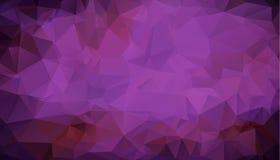 Baixo fundo poli triangular emaranhado geométrico roxo escuro multicolorido abstrato do gráfico da ilustração do inclinação do es ilustração stock