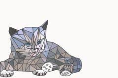 Baixo gato poli Imagem de Stock Royalty Free