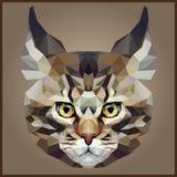 Baixo gato poligonal ilustração do vetor