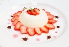 Baixo - iogurte gordo foto de stock royalty free