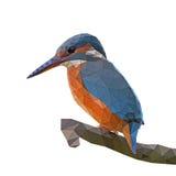 Baixo pássaro poli Ilustração do Vetor