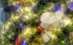 Baixo papel de parede poli abstrato Fotografia de Stock