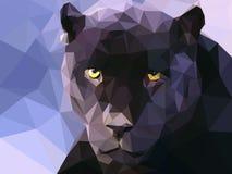 Baixo papel de parede poli da ilustração da pantera Fotografia de Stock