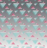 Baixo polígono e fundo geométrico no vintage e no estilo retro ilustração stock