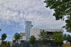 Baixo prédio de escritórios da ascensão Fotos de Stock