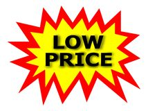 BAIXO preço ilustração do vetor
