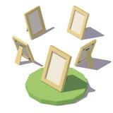 Baixo quadro poli isométrico da foto Fotografia de Stock