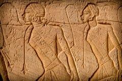 Baixo-relevo, Abu-Simbel Fotografia de Stock Royalty Free