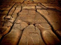 Baixo relevo no templo de Kom-Ombo (Egito) Fotos de Stock