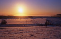 Baixo sol do inverno Foto de Stock Royalty Free