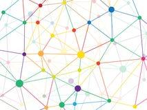 Baixo teste padrão geométrico poli triangular emaranhado da rede do verde de grama do estilo abstraia o fundo Molde da ilustração Imagens de Stock