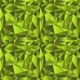 Baixo teste padrão poli do inclinação verde Fundo poligonal Imagem de Stock
