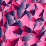 Baixo teste padrão poli do inclinação vermelho, azul e cor-de-rosa Fundo poligonal geométrico Imagens de Stock
