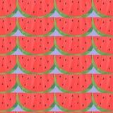 Baixo teste padrão sem emenda poli com melancias Imagens de Stock