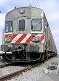 Baixo trem da perspectiva foto de stock