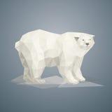 Baixo urso polar poli Imagens de Stock Royalty Free