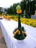 Baiyis or Rice offering in Thai Buddhists. Baiyis or Rice offering is one of the most important components of religious ceremonies of Thai Buddhists royalty free stock photos