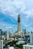Baiyoke tower with surroundings buildings and clouds at Bangkok Stock Photography