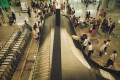 Guangzhou, China - June 25, 2018: Baggage claim at Guangzhou airport. stock images
