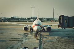 China Airlines Airplane Accepted at Guangzhou Airport. stock photo