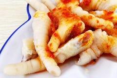 chicken feet salad royalty free stock photography