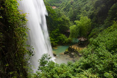 BaiYun Waterfall top side view royalty free stock photos