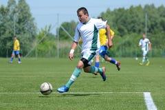 baja比赛kaposvar足球u19 免版税库存图片