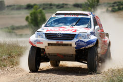 Baja Aragon 2014. XXXI Competition Edition Baja Aragon (Spain), FIA World Cup for Cross Country Rallies Royalty Free Stock Image