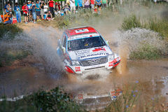 Baja Aragon 2014. XXXI Competition Edition Baja Aragon (Spain), FIA World Cup for Cross Country Rallies Royalty Free Stock Photography
