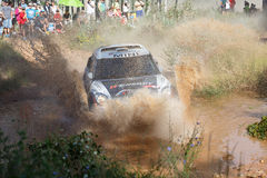 Baja Aragon 2014. XXXI Competition Edition Baja Aragon (Spain), FIA World Cup for Cross Country Rallies Royalty Free Stock Photo