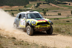 Baja Aragon 2014. XXXI Competition Edition Baja Aragon (Spain), FIA World Cup for Cross Country Rallies Royalty Free Stock Images