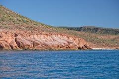 Baja california coast rocks and desert Royalty Free Stock Photo