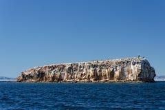 Baja california coast rocks and desert Royalty Free Stock Photos