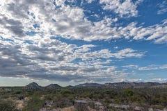 Baja California desert and cortez sea landscape view Stock Photos