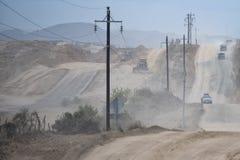 Baja california desert road Stock Image