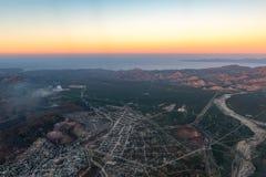 Baja California Sur Mexico aerial view stock photos