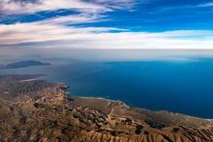 Baja California Sur Mexico flyg- sikt arkivbilder
