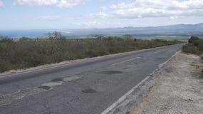 Baja Mexico highway road far into distance Stock Photo