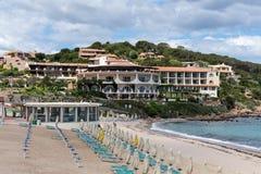 BAJA SARDINIA, SARDINIA/ITALY - MAY 22 : The beach at Baja Sardi Stock Photos