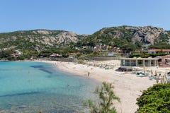BAJA SARDINIA, SARDINIA/ITALY - MAY 18 : The beach at Baja Sardi Stock Photo
