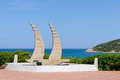 BAJA SARDINIA, SARDINIA/ITALY - MAY 18 : Modern Yacht sculpture Stock Images