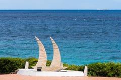 BAJA SARDINIA, SARDINIA/ITALY - MAY 22 : Yacht sculpture at Baja Stock Images