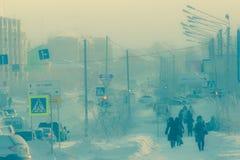 Baja temperatura extrema Foto de archivo libre de regalías