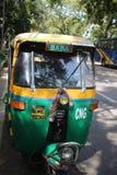 Bajaj (autorick) à New Delhi image libre de droits
