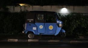 Bajaj isolé bleu Photo libre de droits