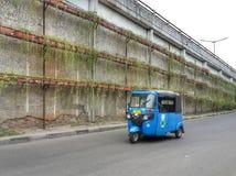 Bajaj Passing. On the street in Jakarta Royalty Free Stock Photography