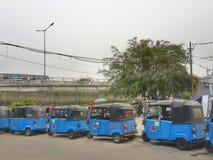 Bajaj Stop. On the street in Jakarta Royalty Free Stock Photos